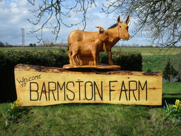 New Welcome to Barmston Farm Sign